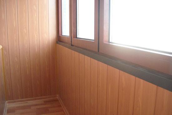 отделка балконов панелями мдф фото